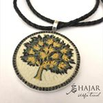 Tree of Life Micro Mosaic Pendant, silver gold plated and Onyx stones