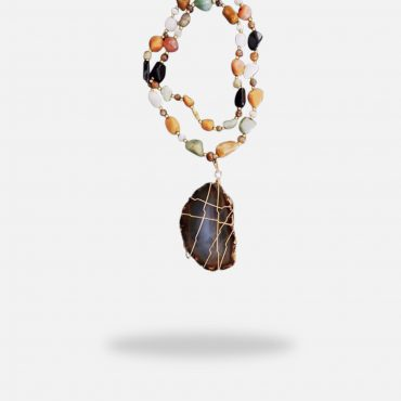 Energy Gemstones Necklace, gold plated