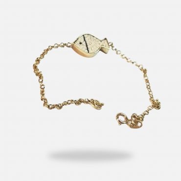 Fish Micro Mosaic Bracelet, 18k yellow gold