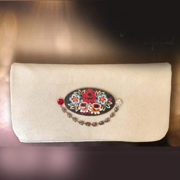 Flowers Bouquet Micro Mosaic Clutch