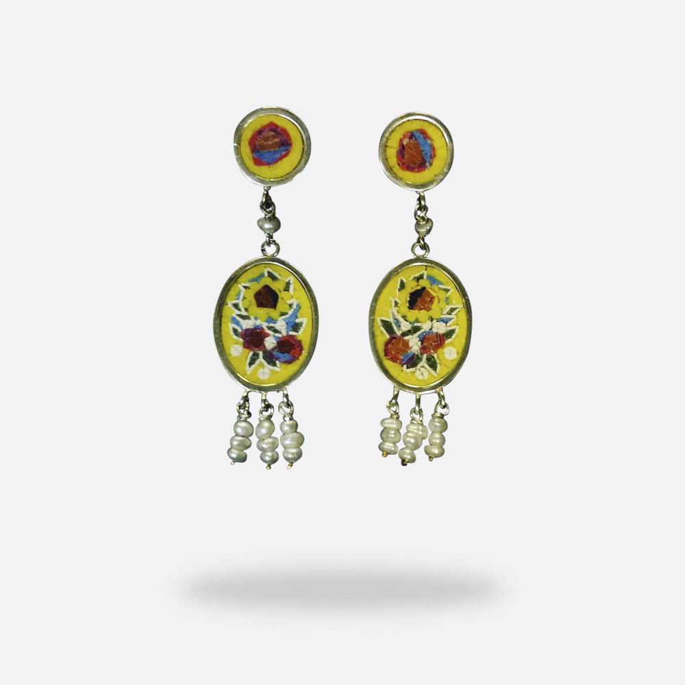 Micromosaic Earrings