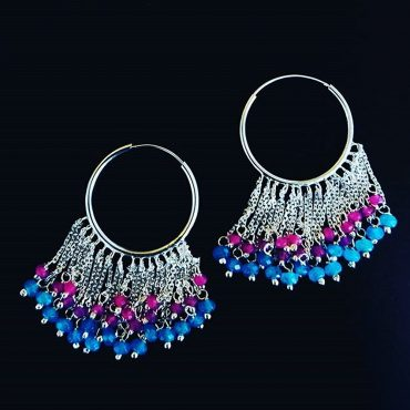 Silver White Gold Plated Earrings