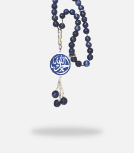 Handmade Blue Lapis Stones Micro Mosaic Rosary, blue lapis stones and silver gold plated
